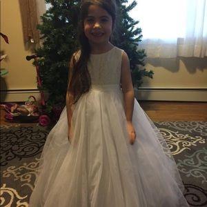 David's bridal flower girl heart back dress